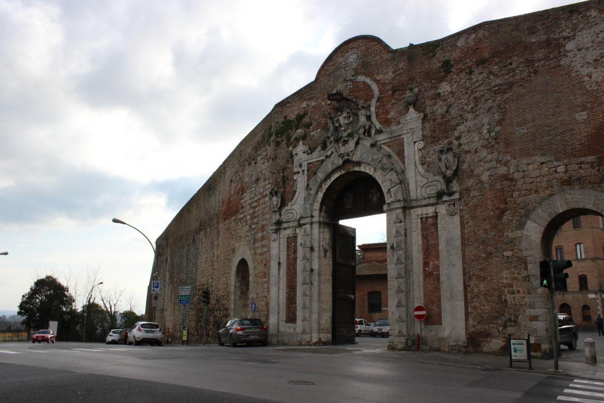 The magnificent Porta Camollia in Siena, Italy