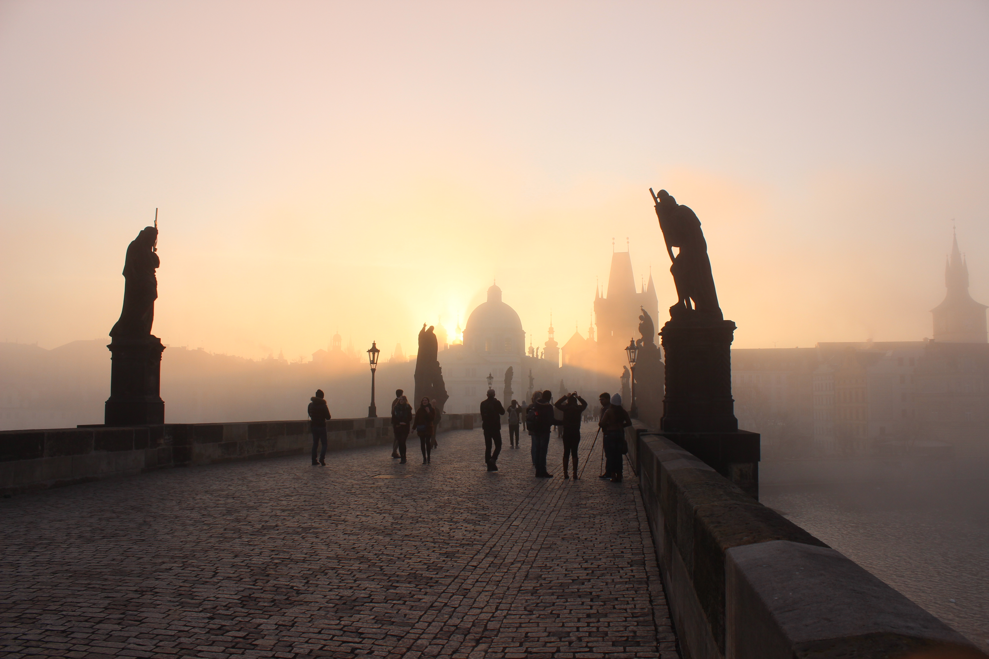 Sunrise on Charles Bridge, Prague