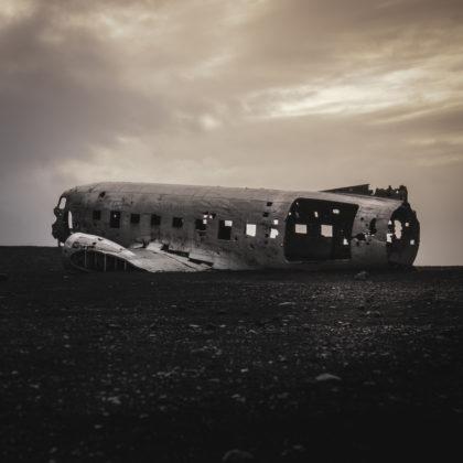 Solheimasandur plane wreck, south Iceland 2018