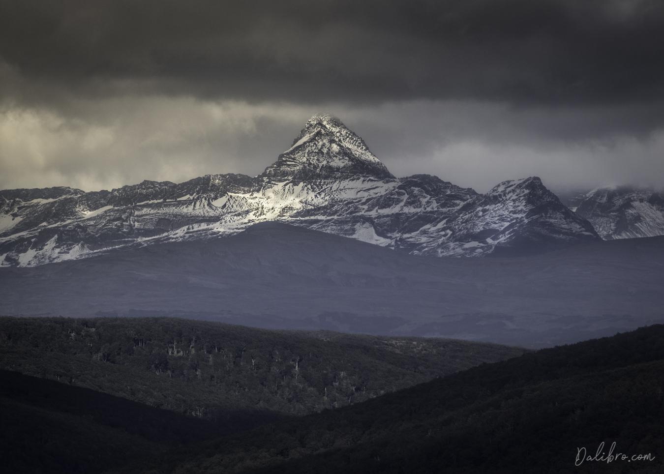 Cordillera Darwin at the end of the world, Tierra del Fuego. Somewhere behind it, Antarctica