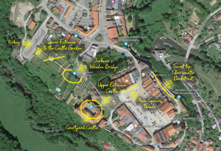 Nove Mesto nad Metuji - map of the town with the best photography locations
