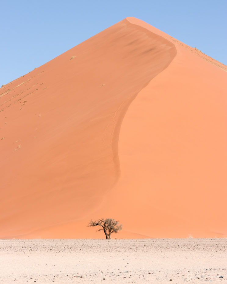 One of the dunes inside the national park on the way to Deadvlei
