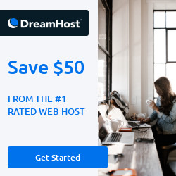 Save 50 USD on your hosting from DreamHost