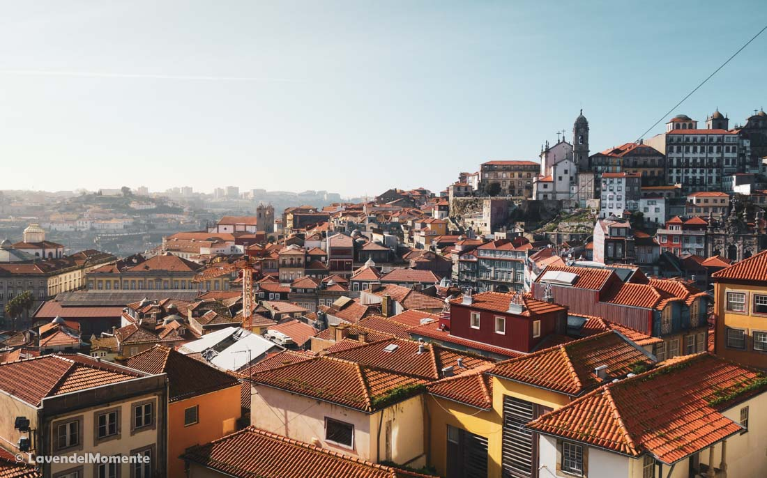 Ocean of roofs visible from one of Porto's best viewpoints