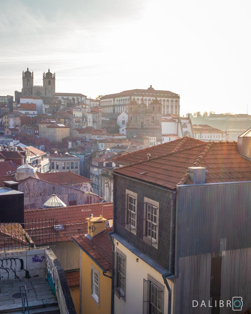 It's just the stairs but what a view! Escadas de Vittoria viewpoint in Porto.