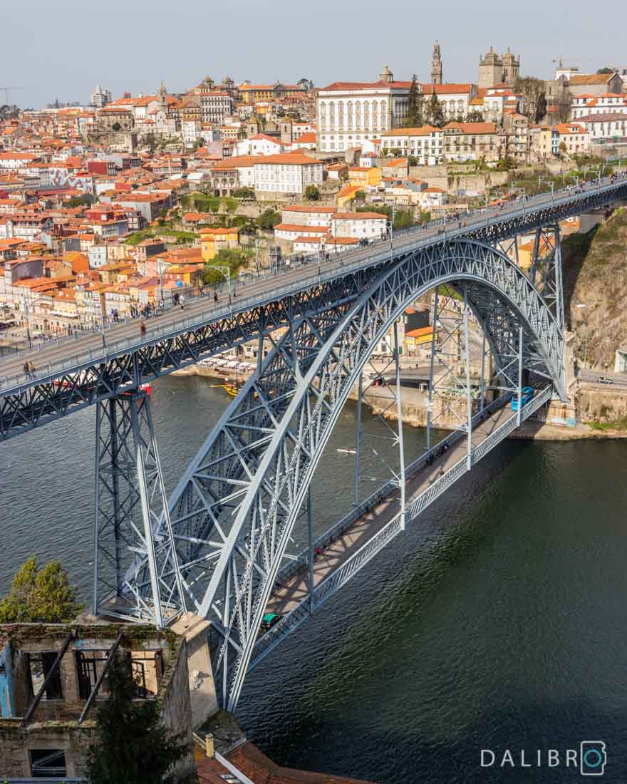 View of Porto, Portugal from the monastery