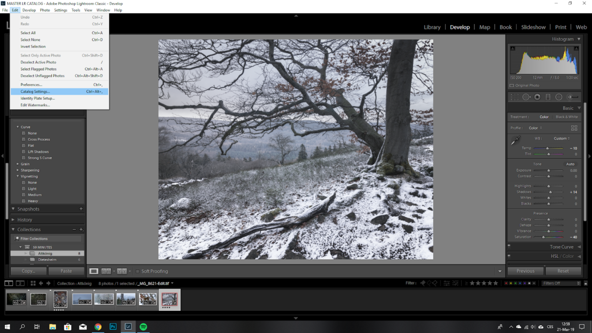 How to back up a catalog in Lightroom