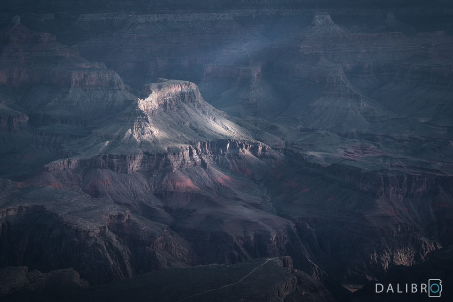 Grand Canyon, AZ, Sunrise on the Rim Trail close to the Yavapai Point. Editing in a fantasy fashion seemed appropriate.