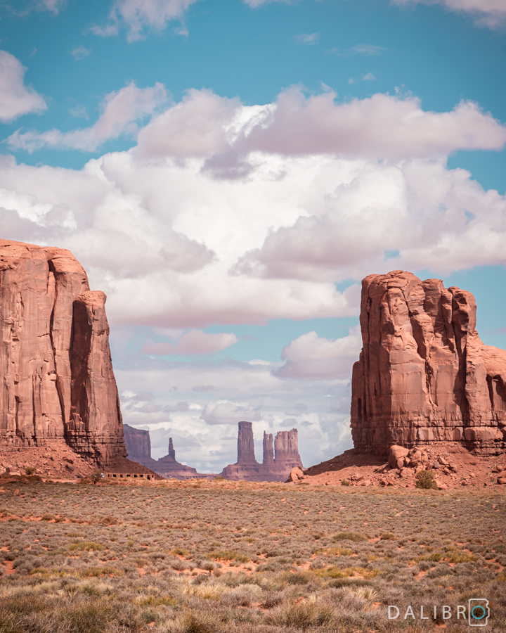 Some natural framing on the guided drive through the Tribal Park, Monument Valley, Utah / Arizona, USA